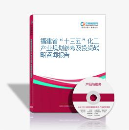 """福建省""""十三五""""化工產業規劃參考及投資戰略咨詢報告"""
