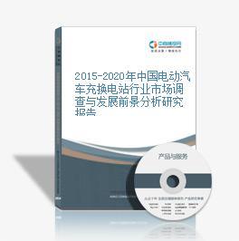 2015-2020年中國電動汽車充換電站行業市場調查與發展前景分析研究報告