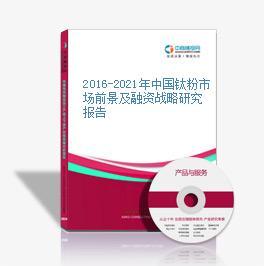 2016-2021年中国钛粉市场前景及融资战略研究报告