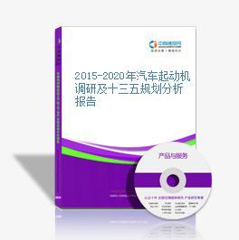 2015-2020年汽车起动机调研及十三五规划分析报告