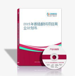 2015年版锆酸钙项目商业计划书