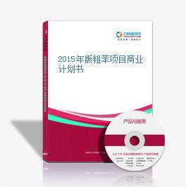 2015年版粗苯项目商业计划书
