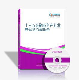 十三五金融服务产业发展规划咨询报告