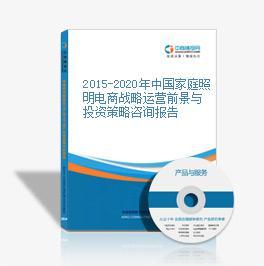 2015-2020年中國家庭照明電商戰略運營前景與投資策略咨詢報告