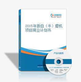 2015年版自(半)磨机项目商业计划书