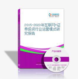 2015-2020年互联网+证券投资行业运营模式研究报告