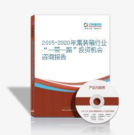 """2015-2020年集装箱行业""""一带一路""""投资机会咨询报告"""