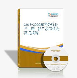 """2015-2020年勞務行業""""一帶一路""""投資機會咨詢報告"""