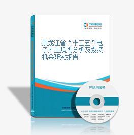 """黑龙江省""""十三五""""电子产业规划分析及投资机会研究报告"""