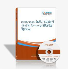 2015-2020年風力發電行業分析及十三五規劃咨詢報告
