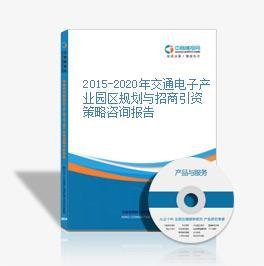 2015-2020年交通電子產業園區規劃與招商引資策略咨詢報告