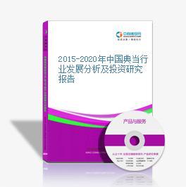 2015-2020年中国典当行业发展分析及投资研究报告