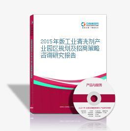 2015年版工业清洗剂产业园区规划及招商策略咨询研究报告