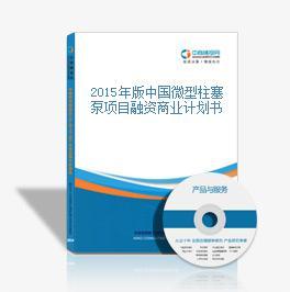 2015年版中国微型柱塞泵项目融资商业计划书