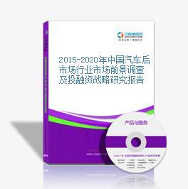 2015-2020年中國汽車后市場行業市場前景調查及投融資戰略研究報告