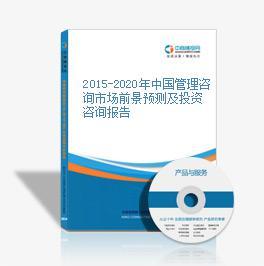 2015-2020年中国管理咨询市场前景预测及投资咨询报告