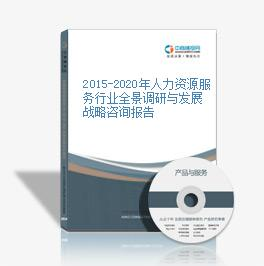 2015-2020年人力资源服务行业全景调研与发展战略咨询报告
