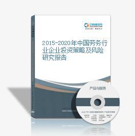 2015-2020年中國勞務行業企業投資策略及風險研究報告
