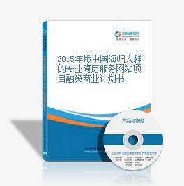 2015年版中國海歸人群的專業簡歷服務網站項目融資商業計劃書