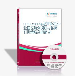2015-2020年超聲碎石產業園區規劃調研與招商引資策略咨詢報告