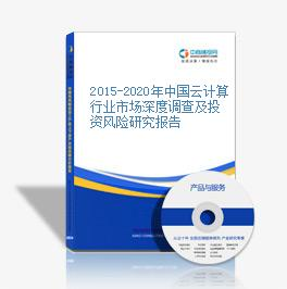 2015-2020年中国云计算行业市场深度调查及投资风险研究报告