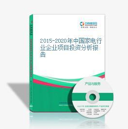 2015-2020年中国家电行业企业项目投资分析报告
