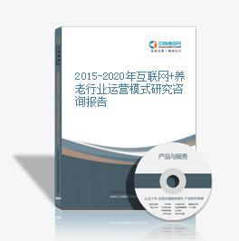 2015-2020年互联网+养老区域运营模式研究咨询报告