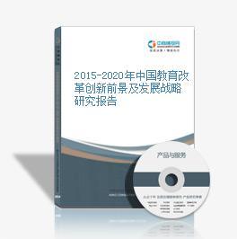 2015-2020年中国教育改革创新前景及发展战略研究报告
