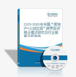 """2015-2020年中国""""房地产+众创空间""""跨界投资商业模式研究及行业前景分析报告"""