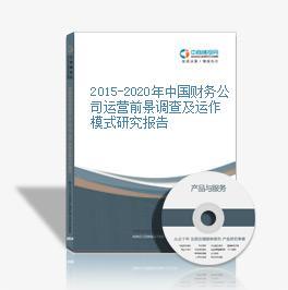 2015-2020年中国财务公司运营前景调查及运作模式研究报告