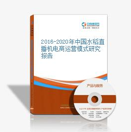 2016-2020年中国水稻直播机电商运营模式研究报告