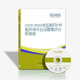 2016-2020年互聯網+節能環保行業運營模式分析報告
