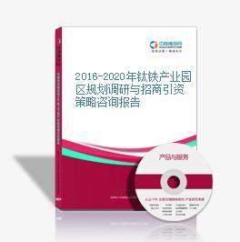 2016-2020年钛铁产业园区规划调研与招商引资策略咨询报告