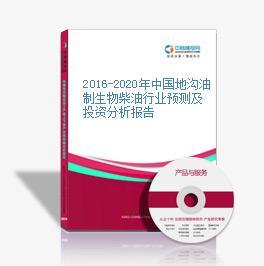 2016-2020年中国地沟油制生物柴油行业预测及投资分析报告