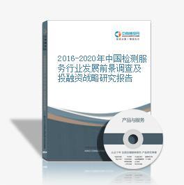 2016-2020年中国检测效劳区域发展上景调查及投融资战略350vip