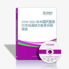 2016-2021年中国民营银行市场调研及前景预测报告