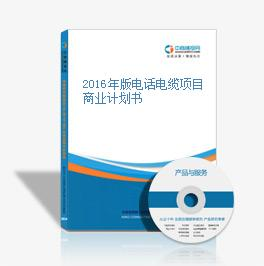 2016年版电话电缆项目商业计划书