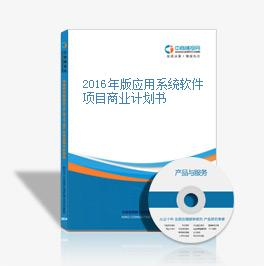 2016年版应用系统软件项目商业计划书