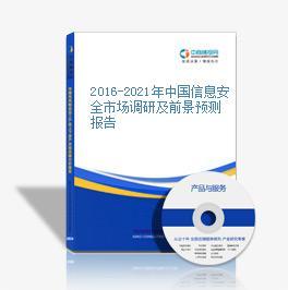 2016-2021年中国信息安全市场调研及前景预测报告