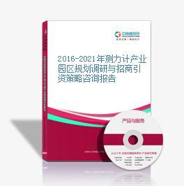 2016-2021年测力计产业园区规划调研与招商引资策略咨询报告